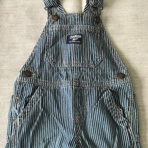 OshKosh B'gosh Striped Overalls Size 18months